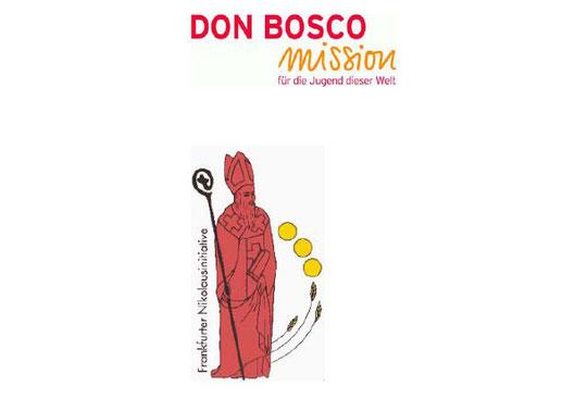 Logo der Frankfurter Nikolausinitiative und der Don Bosco Mission