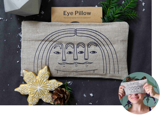 Eye pillow by Blästa Henriët featured in the handmade Christmas gift guide
