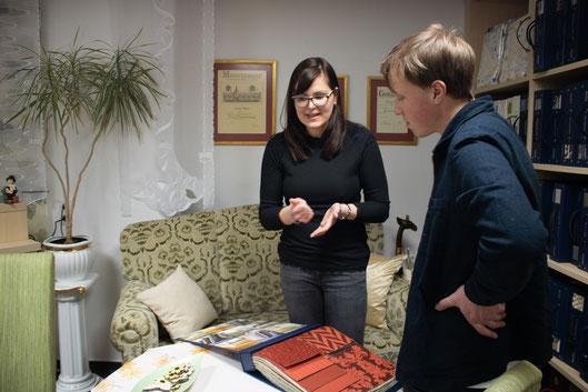 Dominique Hoppe und unser Interviewer Felix