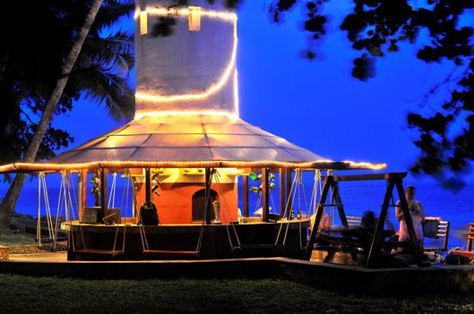The 'Swing Bar' at the Severin Sea Lodge, Mombasa, Kenya. Dante Harker