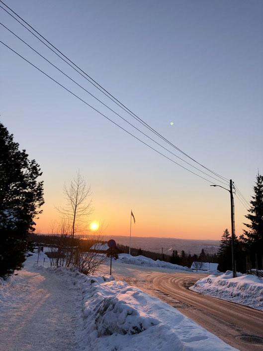 Sonnenaufgang auf dem Holmenkollen