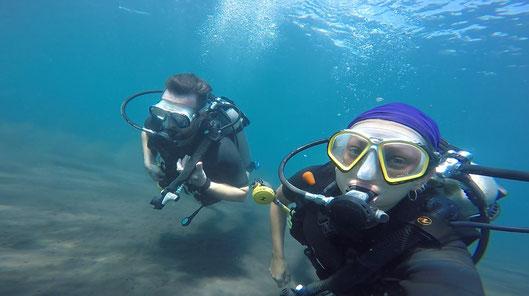 Bali, Indonesien, Zwei auf Achse, Tauchen, Dive, 2017, Weltreise, Tauchgang, AlamBatu