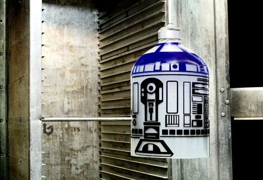 R2D2: lampe upcycling