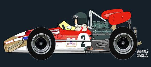 Jochen Rindt by Muneta & Cerracín