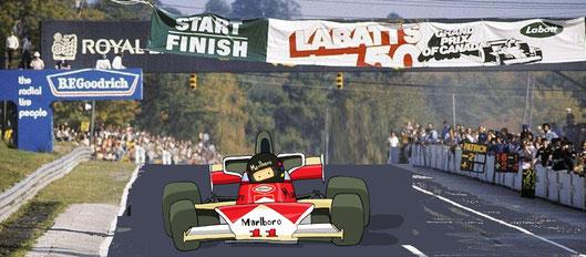 Sexta victoriay50º Gran Premio deJames Hunt.  Vigésima victoria deMcLaren y94ªde un motor Ford Cosworth.