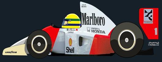 Ayrton Senna by Muneta & Cerracín
