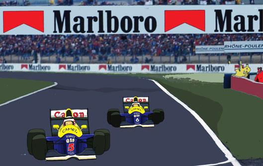 Nigel Mansell & Riccardo Patrese by Muneta & Cerracín