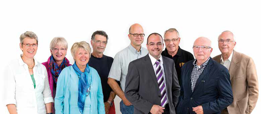Vorstand und Beirat der Olmstedt Stiftung: Mechthild Nolte, Sybilla Aßmann, Dr. Irmgard Frinken, Alexander Pauls, Dirk Reiser, Thomas Schröter, Dirk Brenne, Gerhard Böttcher, Karlheinz Dressel