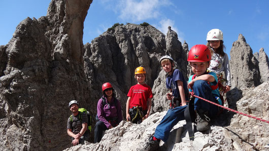 Klettern mit Bergführer Andreas Wierer, Tirol (hier: Kinderklettern)