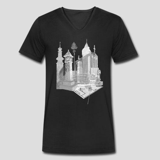 Das Bornheim T-Shirt mit cooler Grafik - Bornheimskyline - Bornheim Stadtteil von Frankfurt