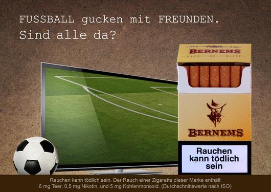 Zigaretten Bernems Fußball