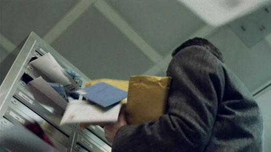 Briefkasten von unten