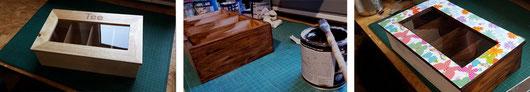 Herstellung der Vintage-Teebox