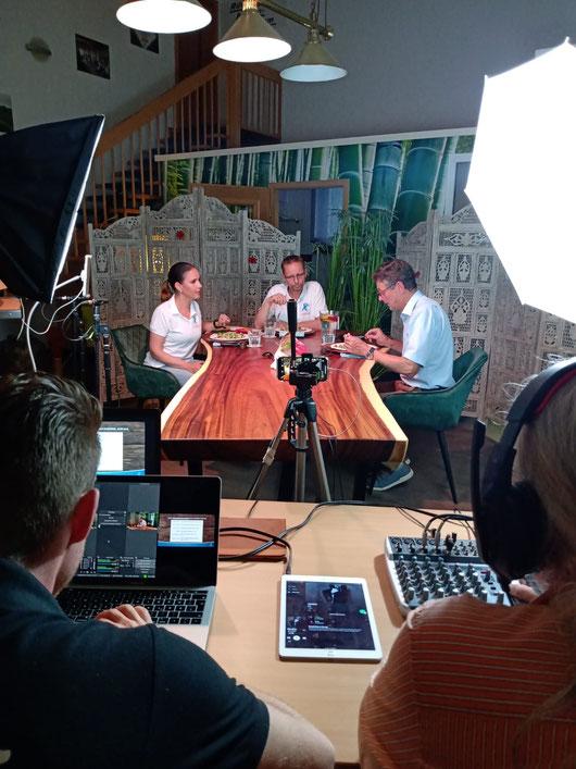 The making of für den YouTube Livestream mit Magdalena und Dirk Schauenberg zum Thema Gesundheit