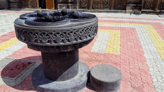 Trinkbrunnen in der Fußgängerzone von Gyumri