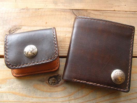 ビルフォードとコインケースのセット(アンティークダークブラウン) ¥25000