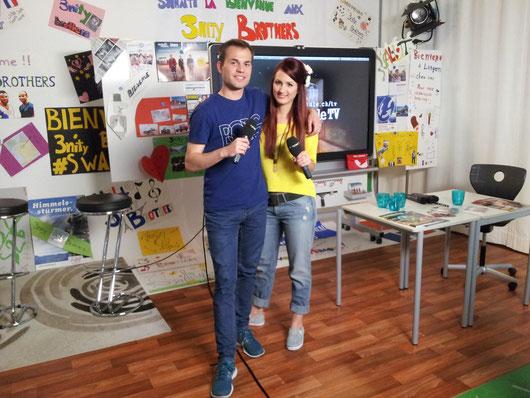 29.5.2014: 1. «Coole Schule TV»-LIVE-Sendung auf STAR TV mit Ralph Steiner & CielleNoir