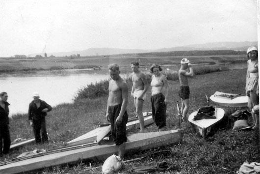 30er-Jahre FWF-Kanutour Saar-Mosel-Rhein