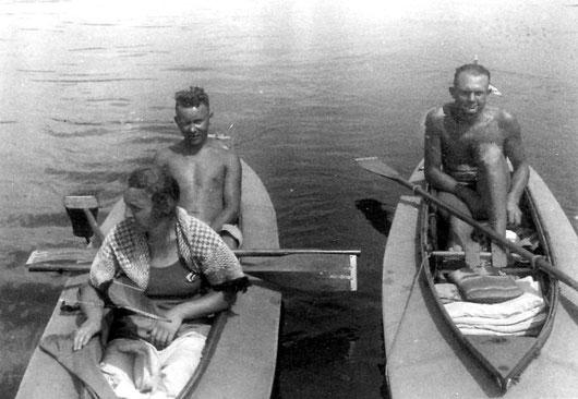 Bei gleicher Tour, Ehel. Hirschmann, rechts Otto Winkler