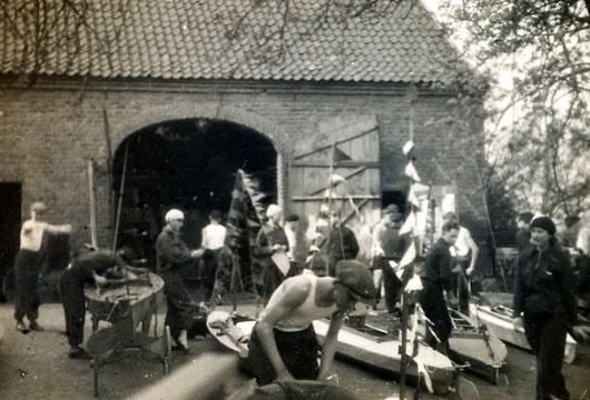 Erstes FWF-Domizil, eine zum Bootshaus umgebaute Scheune (Städt. bisheriger Pferdestall)