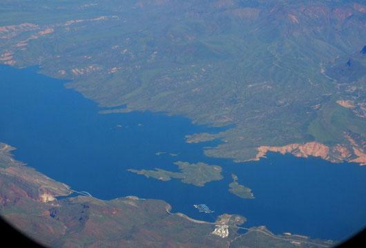 Theodore Roosevelt Lake von oben