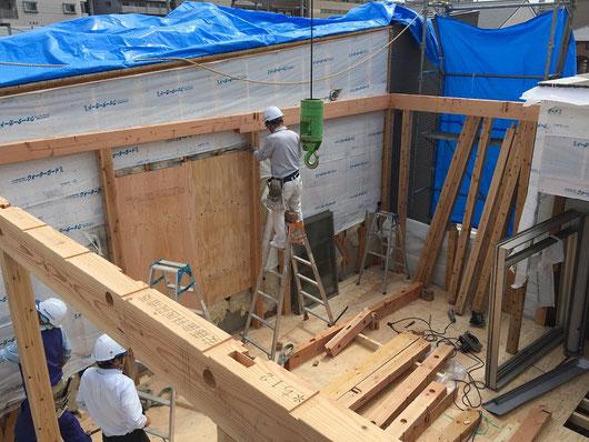 増築工事(建て方)