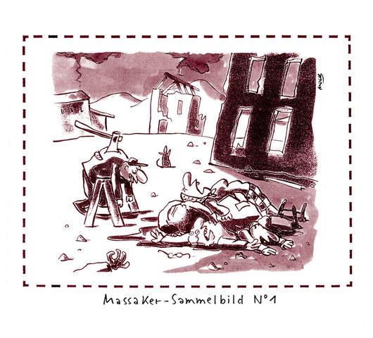 Cartoon von Mock zum Thema Gewalt