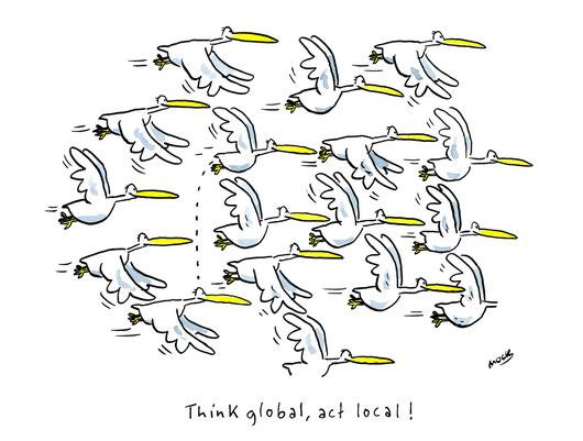 Cartoon von Mock zum Thama Globalisierung