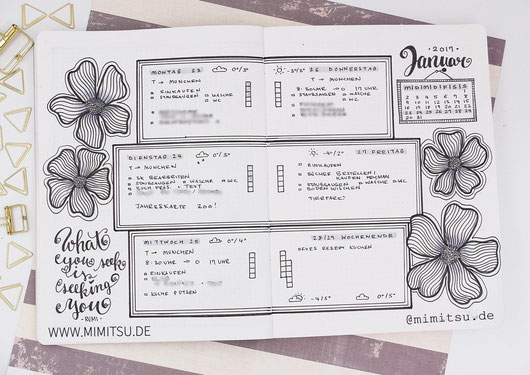 Bullet Journal, Doodle, Flower, Bullet Journal Layout, Bujo Ideas, Ideen Bujo, Blumen, How to draw, Anleitung