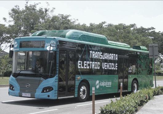 E-bus in Jakarta, Indonesia