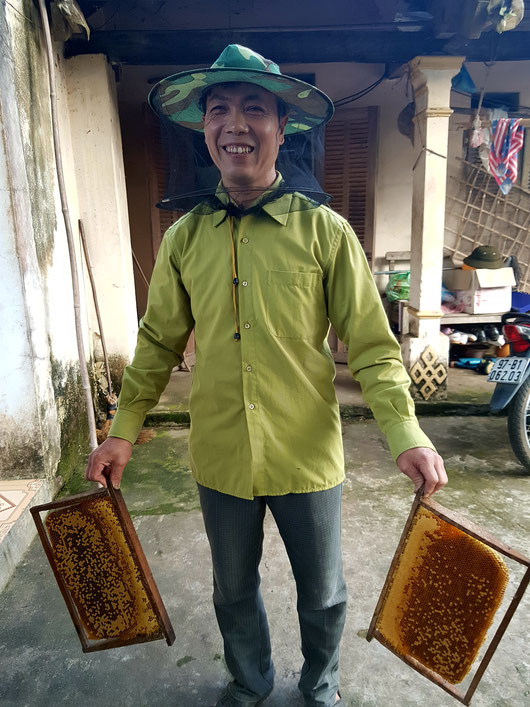 Bee keeper in Ba Be AHP in Vietnam