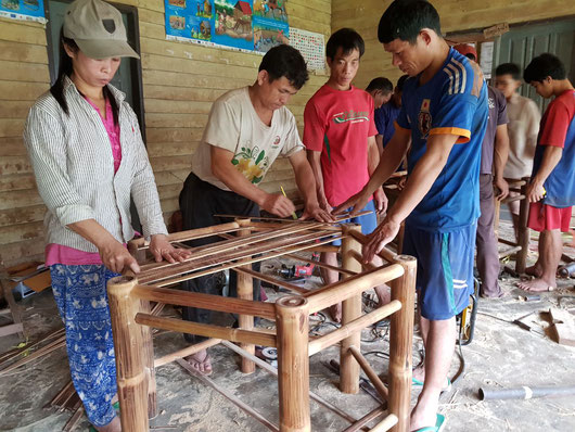 Local bamboo producer group in Nam Ha AHP in Laos