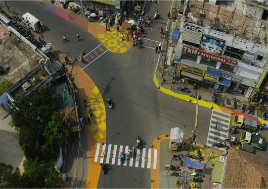 Tactical urbanism activities in Coimbatore, India