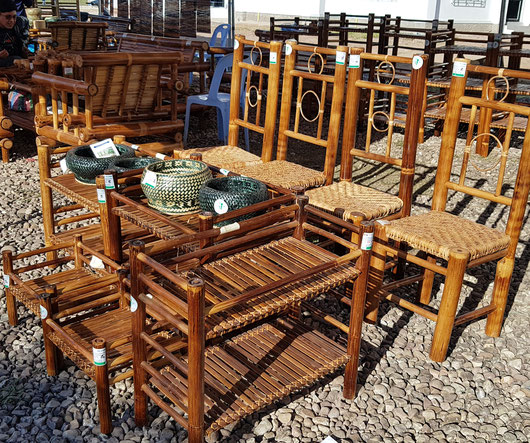 New bamboo products in Laos