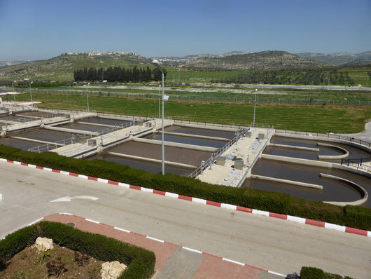 Sewage treatment plant in Palestine