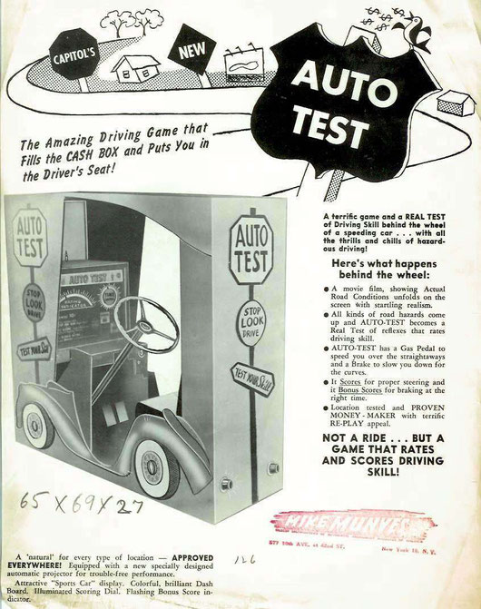 AUTO TEST ARCADE 1954