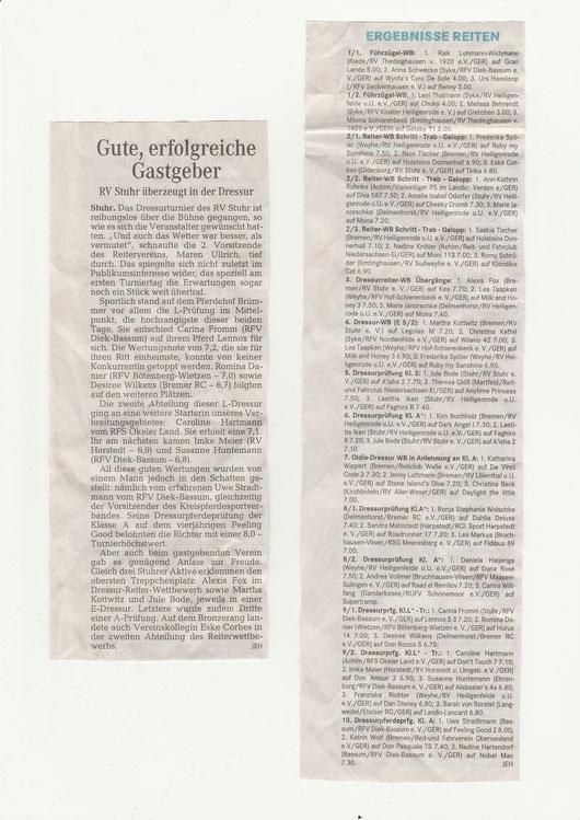 Artikel Weser-Kurier 19.04.2016
