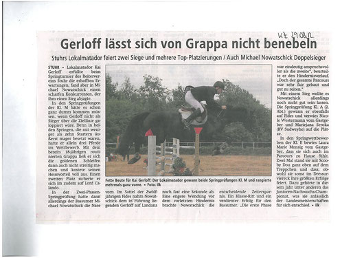 Springturnier 25.+26.08.12 Artikel Kreiszeitung