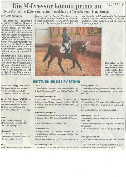 Artikel Weser-Kurier 27.04.2018