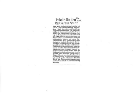 Mitgliederversammlung 15.03.12 Artikel Weser-Kurier