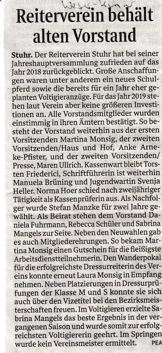 Artikel Weser-Kurier