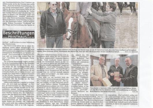 Sportplakette / Reit AG, Artikel Weser-Kurier 27.03.2015 Teil 2