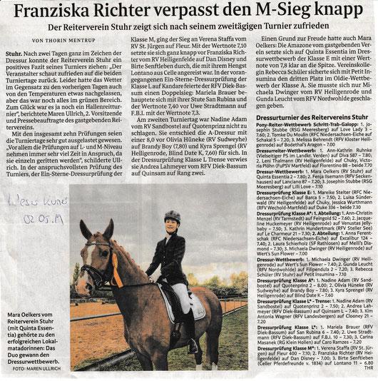Artikel Weser Kurier 02.02.2019