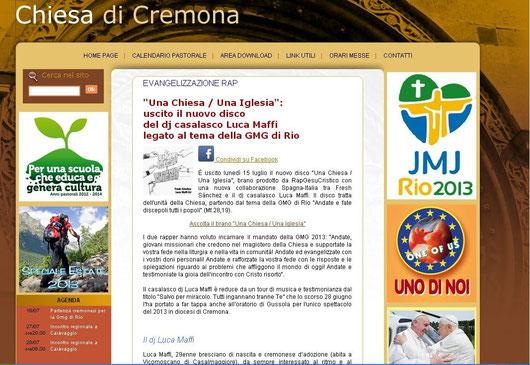 clicca sull'immagine per vedere l'articolo dul sito della Diocesi di Cremona