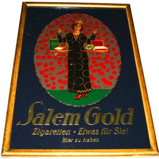 Salem Gold Zigaretten Hinterglas Malerei