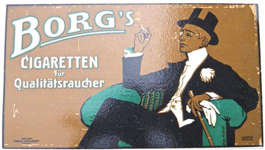 Borgs Cigaretten Entwurf: Lehmann