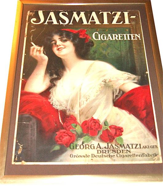 Jasmati Cigaretten Dresden großes Pappschild