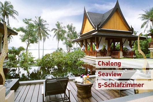 Chalong-Bay: Atemberaubende 6-Sz.-Poolvilla einen Steinwurf vom Strand entfernt