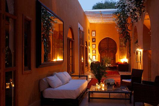 Jnane Tamsna: Ein Palast inmitten eines neun Hektar großen tropischen Gartens
