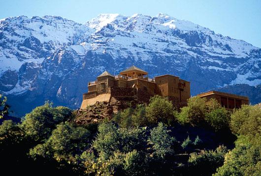 Kasbah Dutoubkal, Marokko... 80 Minuten ausserhalb Marrakechs. Ein Ort der Besinnung am Fuße des höchsten Berges Nordafrikas.